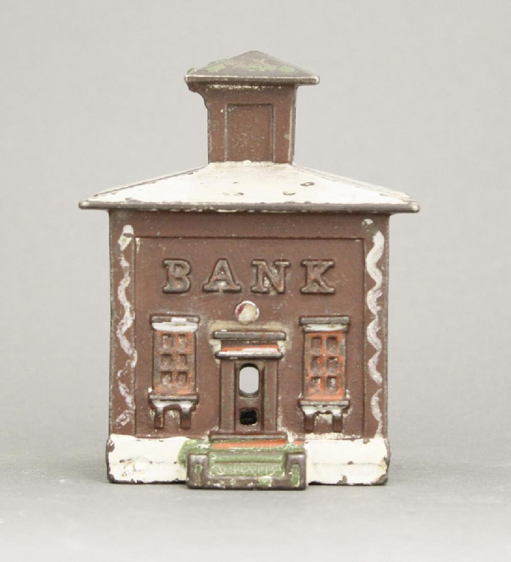 Small Maroon Cupola Iron Bank