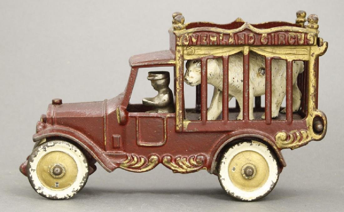 Small Overland Circus Polar Bear Cage Wagon