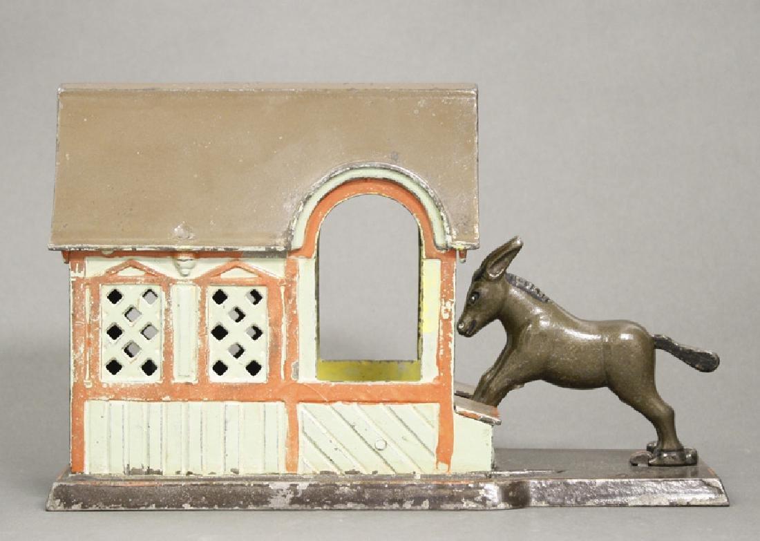 Mule Entering Barn