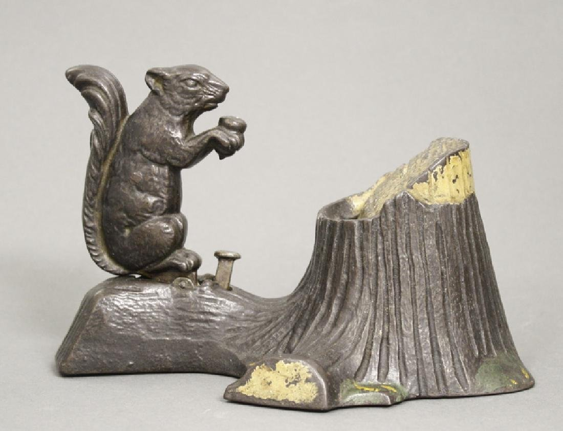 Squirrel and Tree Stump