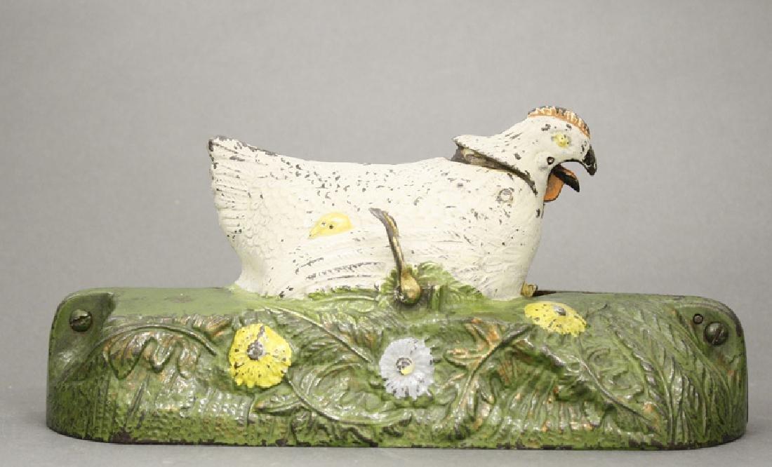 White Hen and Chicks Iron Bank