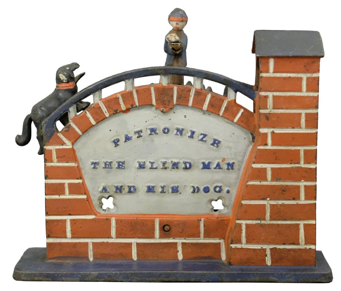 Patronize the Blind Man and his Dog Light Blue Marquee