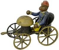 Monkey in Chariot Bell Toy