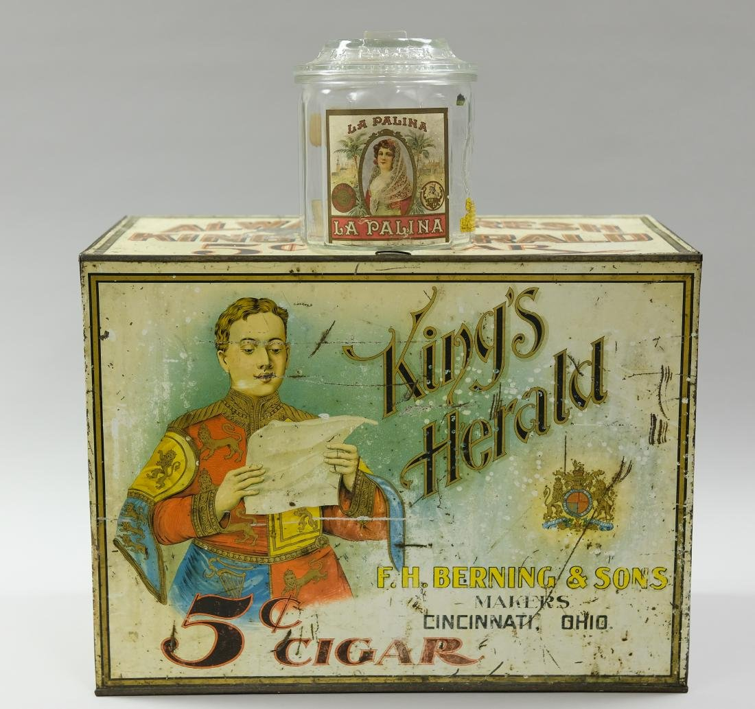 King Heralds 5 Cent Cigar Container