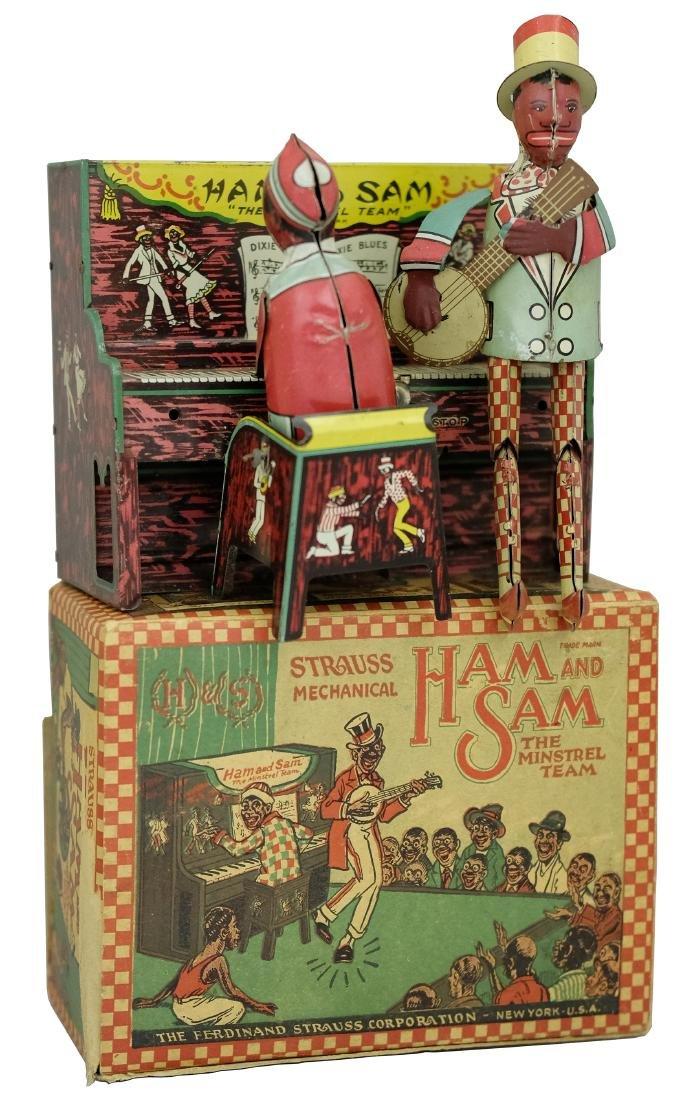 Ham and Sam Minstrel Team with Box