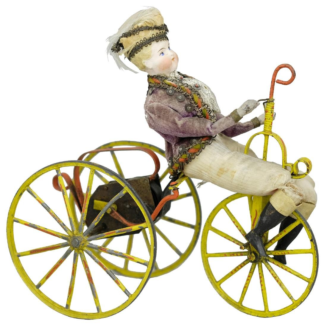 Young Prince Riding an Ornate Tricycle
