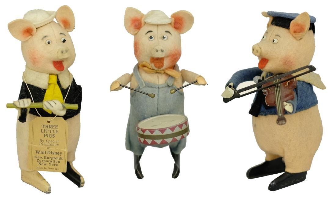 Three Little Pig Musicians Flautist • Drummer •