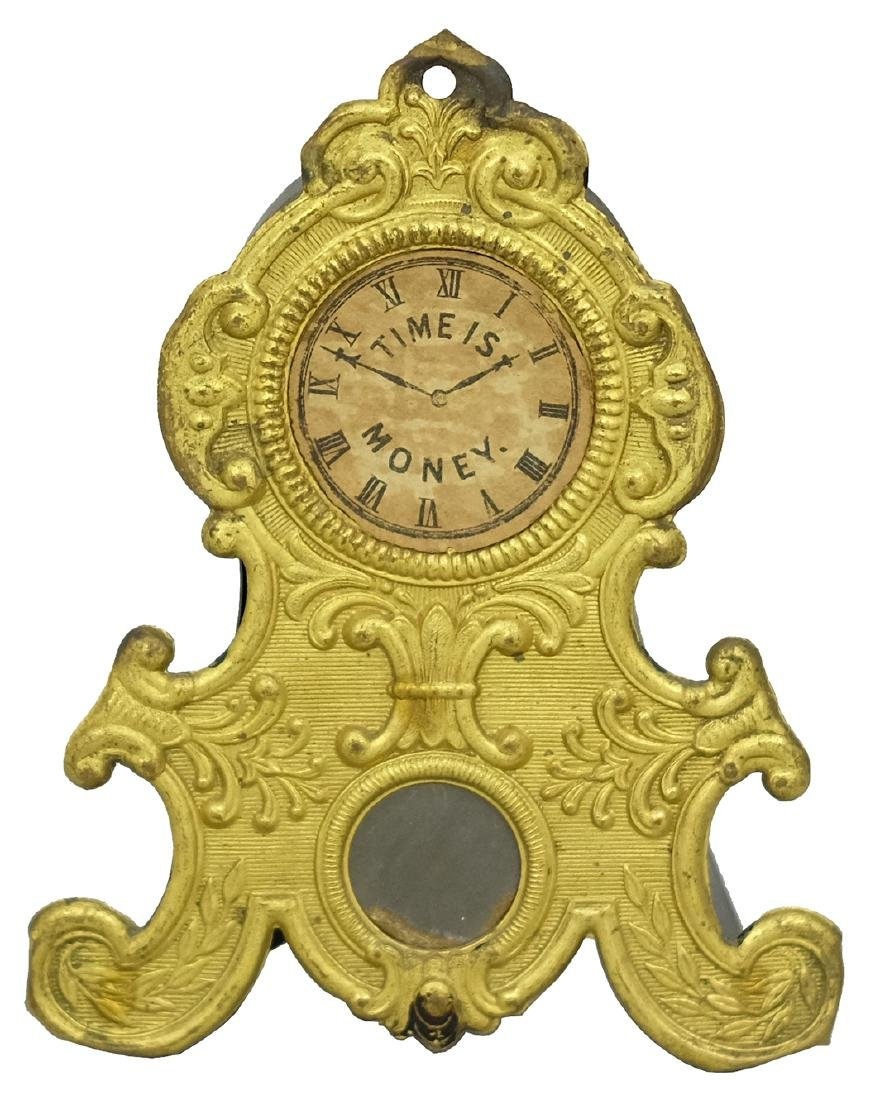 """Time is Money"" Mantel Clock"