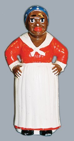 15: MAMMY WITH HANDS ON HIPS CAST IRON STILL BANK