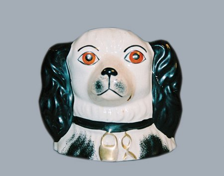 22: DOG'S HEAD STILL BANK - CERAMIC - STAFFORDSHIRE