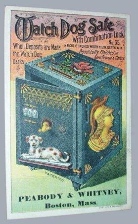 288: WATCH DOG SAFE MECHANICAL BANK TRADE CARD