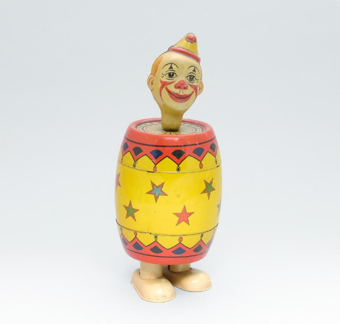 Clown in Barrel