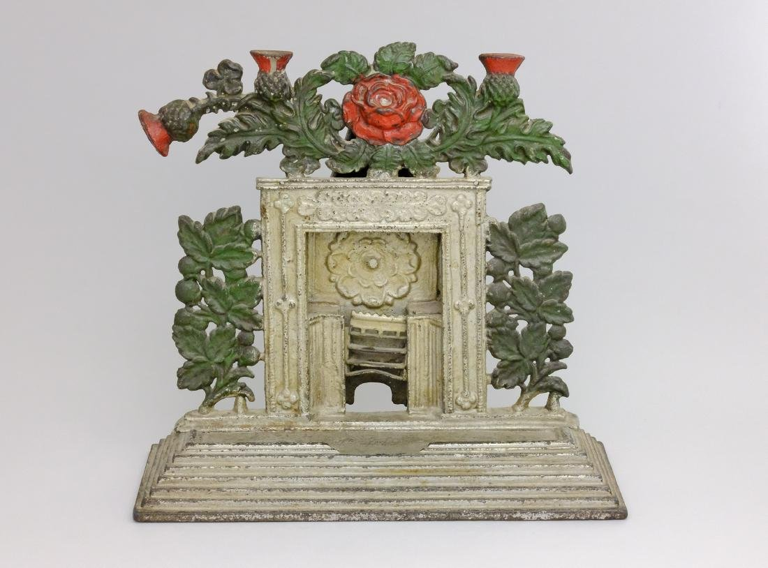 Decorated Fireplace with Mantel