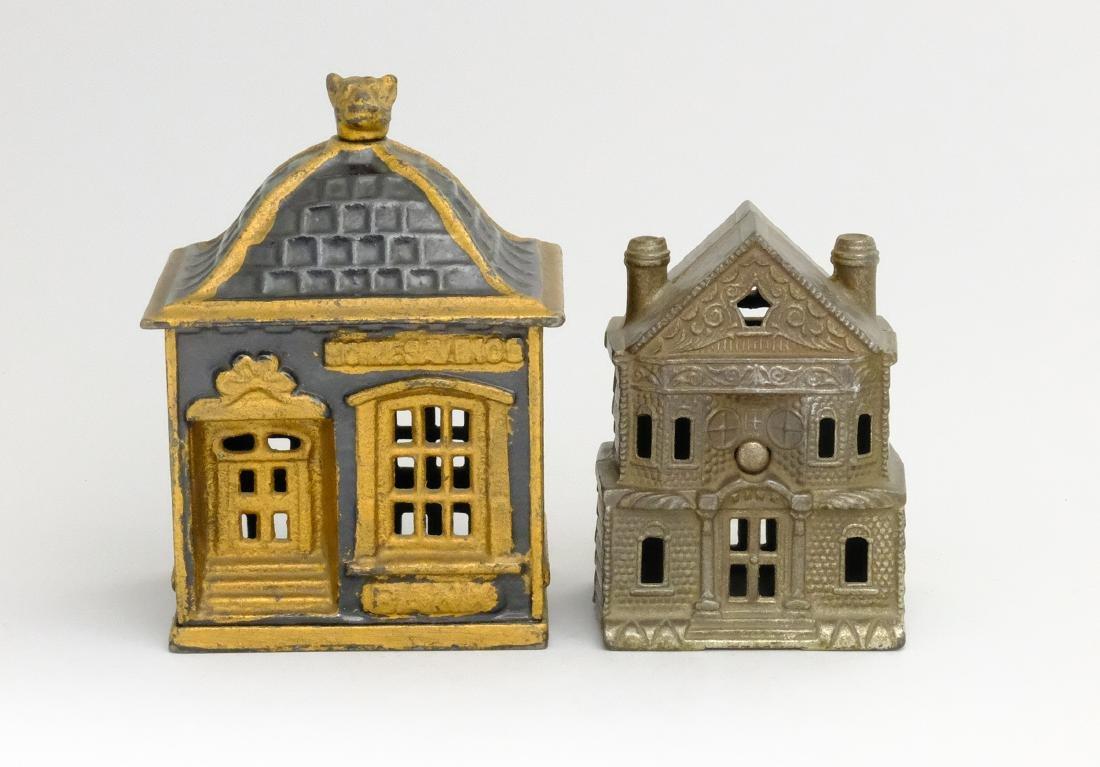 Home Savings Bank / Large Victorian House