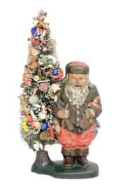 Santa Claus with Wire Tree - Multicolor