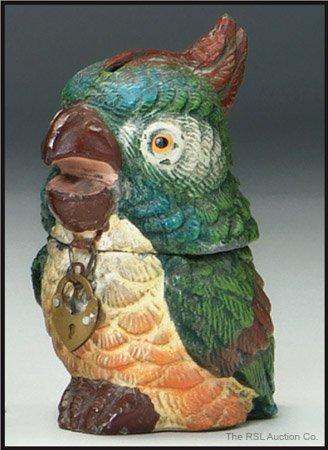 5: GERMAN SPELTER BANK Exotic Parrot Bank