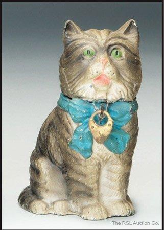 18: GERMAN SPELTER BANK  Calico Cat