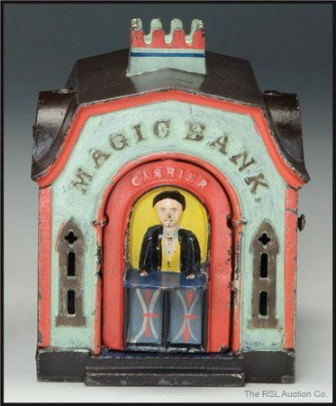 186: MAGIC BANK MECHANICAL - GREEN RED & BROWN