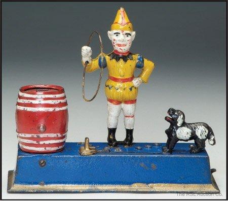 257: TRICK DOG SOLID BASE YELLOW CLOWN BANK