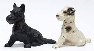 Scottie and Terrier Cast Iron Still Banks
