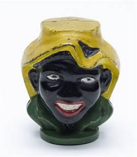 Small Two Faced Black Boy Multicolor Iron Bank