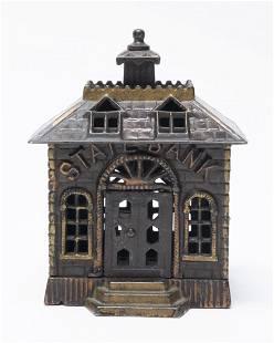 State Bank with Keylock Door Iron Still Bank