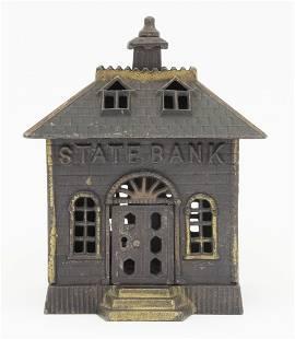 State Bank with Keylock Door Iron Bank