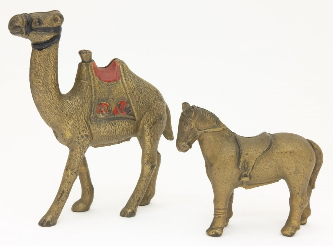Small Camel and Saddle Horse Iron Banks