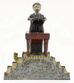 Magician Iron Mechanical Bank