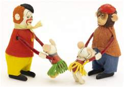 Schuco Clown  Monkey with Mouse