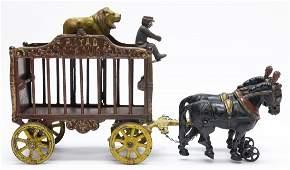 Royal Circus Lion Cage Wagon Iron Toy