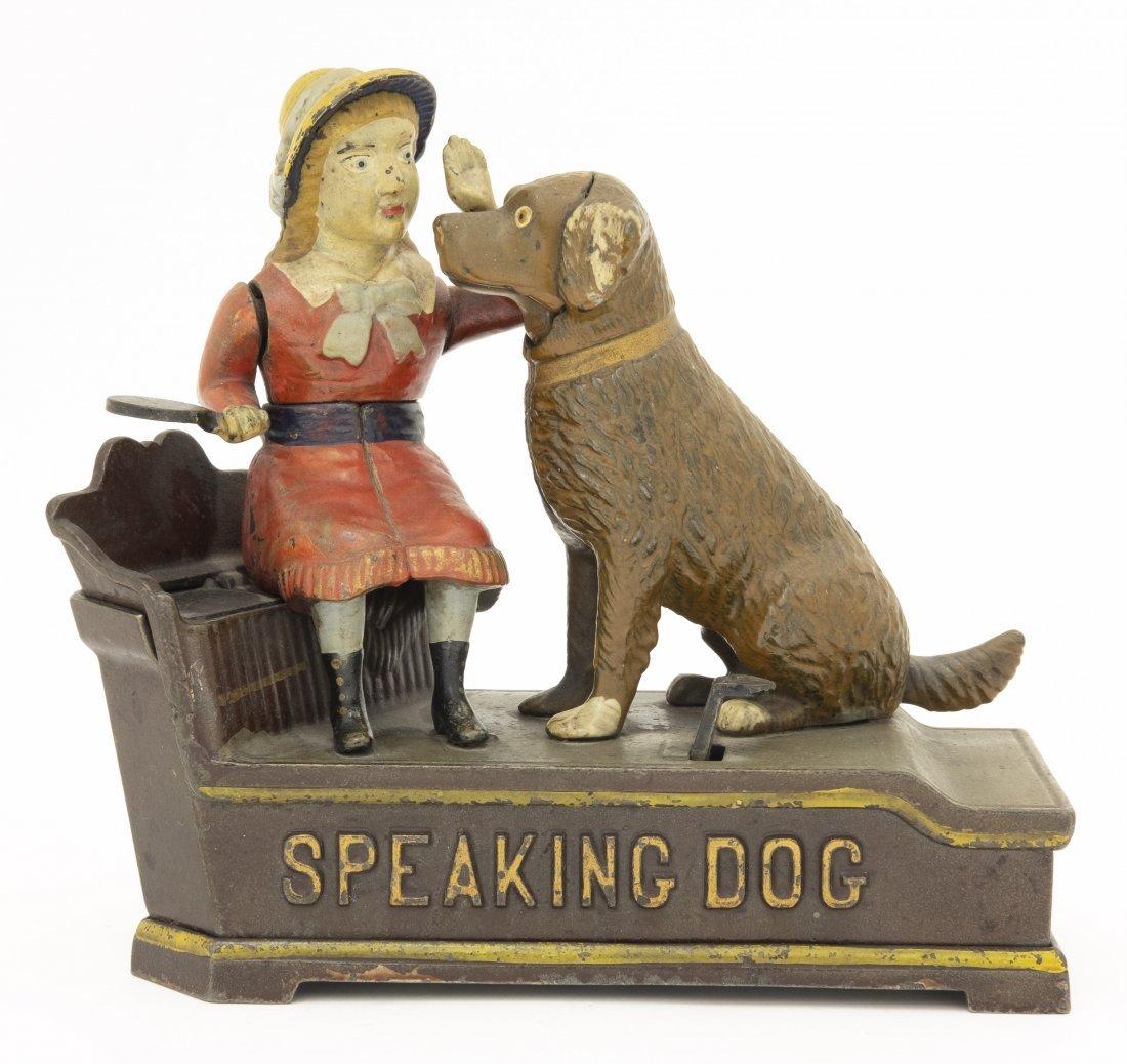 Speaking Dog Iron Mechanical Bank