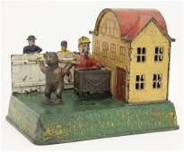 Organ Grinder  Performing Bear Iron Bank
