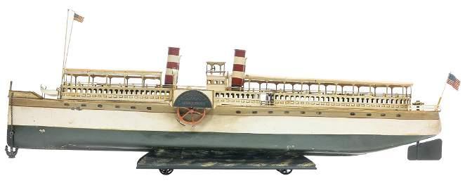 "Gebruder Marklin Paddlewheel Riverboat ""Marguerite"""