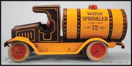 3: F. STRAUSS  WIND-UP WATER SPRINKLER TRUCK