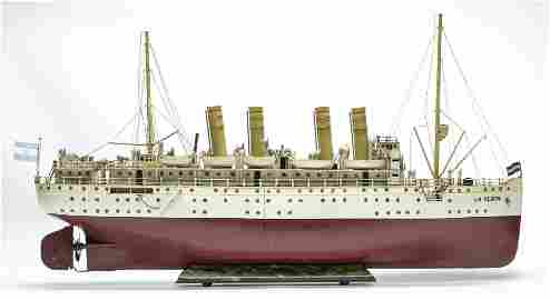 "Gebruder Marklin ""La Plata"" Four Funnel Ocean Line"