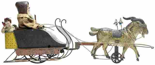 Rare Mechanical Santa Sleigh
