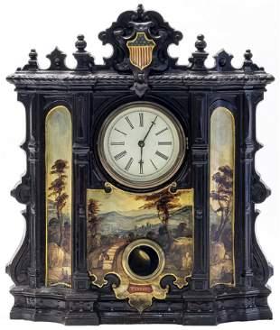 Mantle Clock Landscapes & Patriotic Chevron