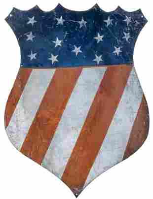 Patriotic Stars & Stripes Sheet Tin Parade Chevron