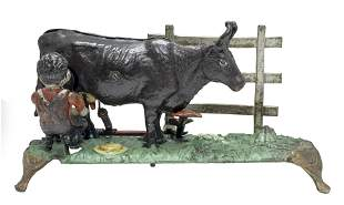 The Milking Cow Bank Thin Base Dark Brown Cow