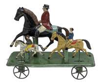 The Triple Equestrian Race Tin Toy