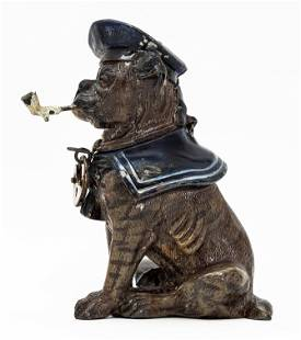 Sailor Bulldog with Pipe Spelter Bank