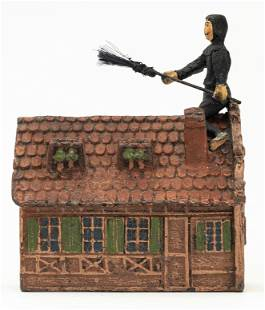 Chimney Sweep on Rooftop Spelter Bank