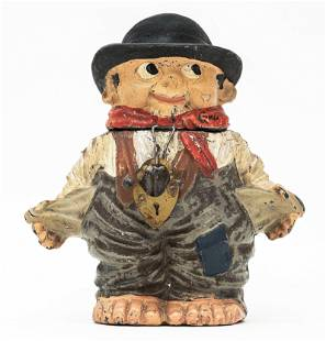 Boy with Empty Pockets Spelter Bank