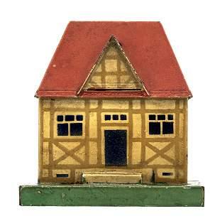 Village Cottage Tin Bank