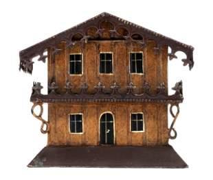 Ornate Chalet Tin Bank