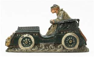 Early Racing Car Spelter Bank