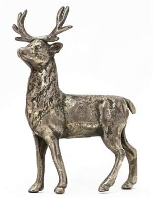 Small Nickeled Reindeer Bank