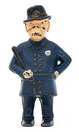 Mulligan the Cop Iron Bank with Advertisement