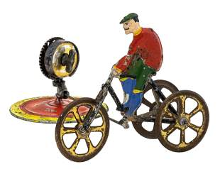 Scarce Mechanical Tricyclist Windup Toy